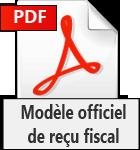 Modèle officiel de reçu fiscal